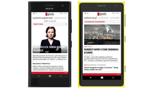 Od teraz Gazeta Wyborcza dostępna w aplikacji także na Windows Phone