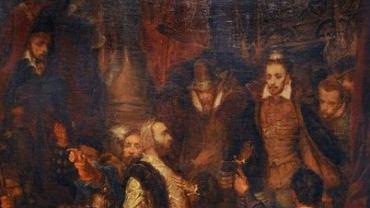 Jan Matejko - Zabicie Wapowskiego (fragment)
