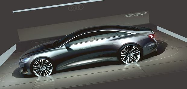 Komputerowy projekt nowego Audi A6 autorstwa Parysa Cybulskiego