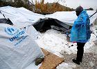 Dramat uchodźców w Grecji. Tysiące ludzi koczują w namiotach przy silnych mrozach