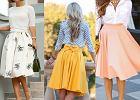 Z czym nosić rozkloszowaną spódnicę - inspiracje z sieci