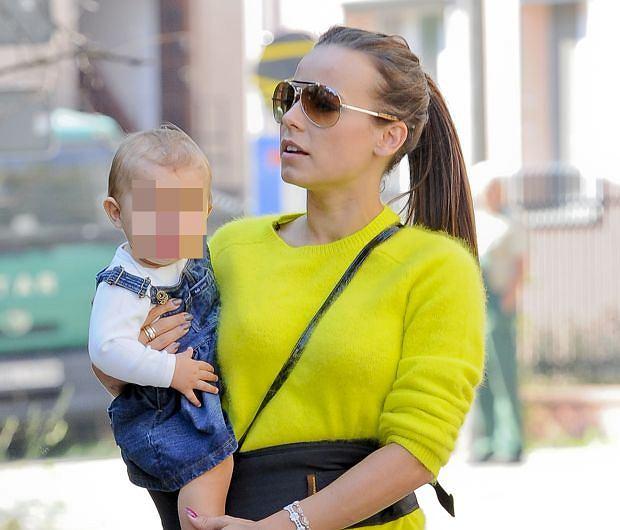 Anna Mucha z córką.