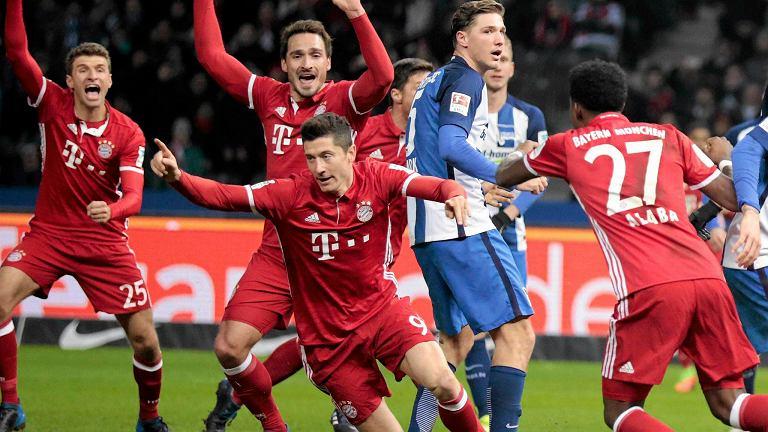 Robert Lewandowski strzelił gola Hercie Berlin w szóstej minucie doliczonego czasu gry