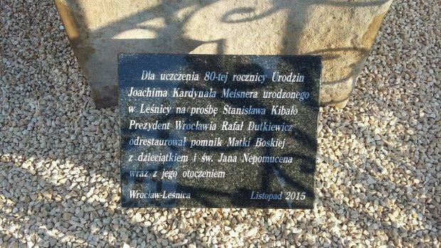 Odnowiony pomnik Nepomucena w Leśnicy