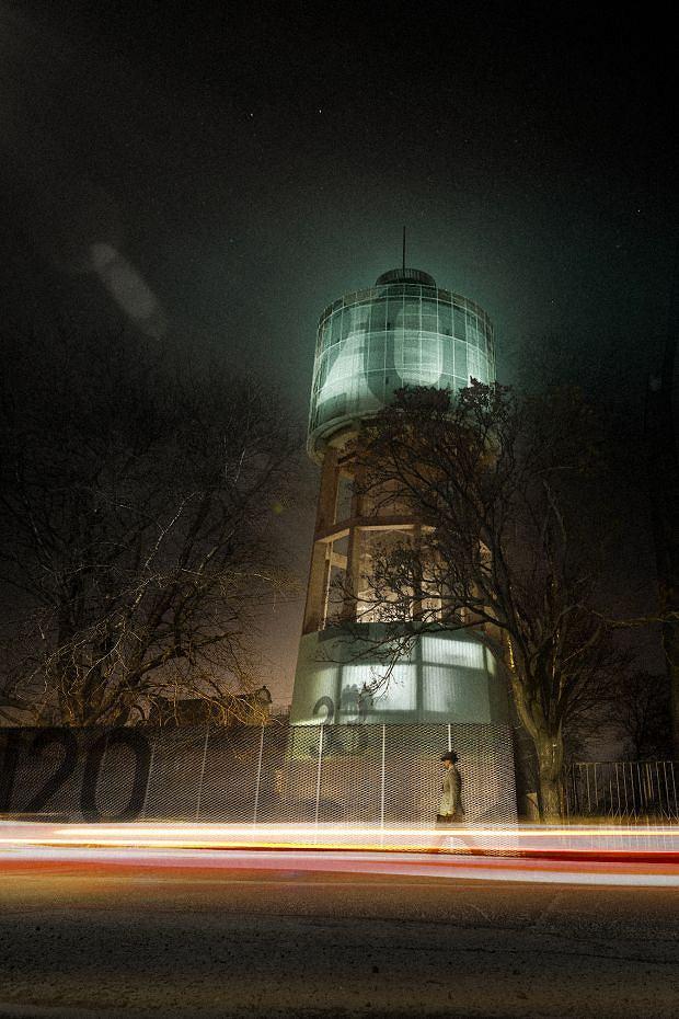 Wizualizacja zrewitalizowanej wieży wodnej przy ul. Oświęcimskiej w Bytomiu