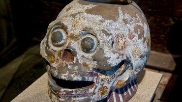 Ceramiczna czaszka aztecka z Narodowego Muzeum Antropologicznego w Meksyku