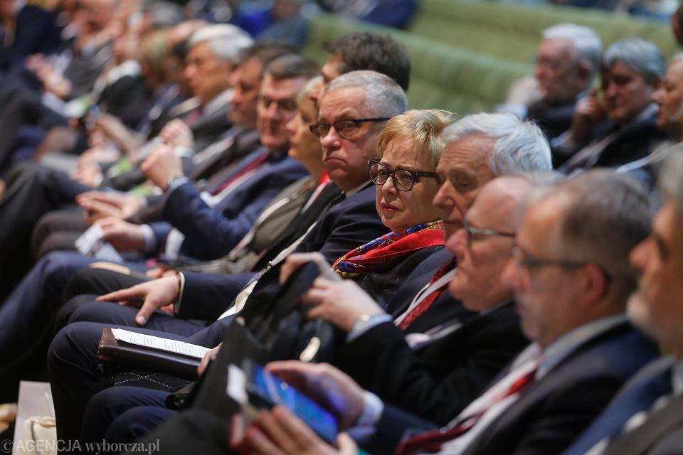 Sędzia Sądu Najwyższego, prof. Małgorzata Gersdorf  podczas konferencji  'Sędzia a Konstytucja' w Katowicach