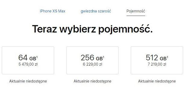 Ceny iPhone XS Max