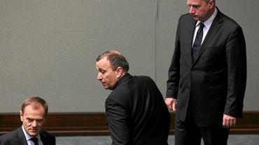 Donald Tusk, Grzegorz Schetyna i Paweł Graś