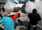 Zamieszki w Meksyku. Ludzie wyszli na ulic� po masakrze student�w. Sp�on�� budynek rz�dowy
