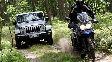 Triumph Tiger vs. Jeep Wrangler