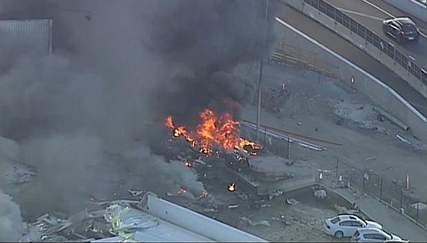 Katastrofa lotnicza w Australii. Mały samolot runął na centrum handlowe
