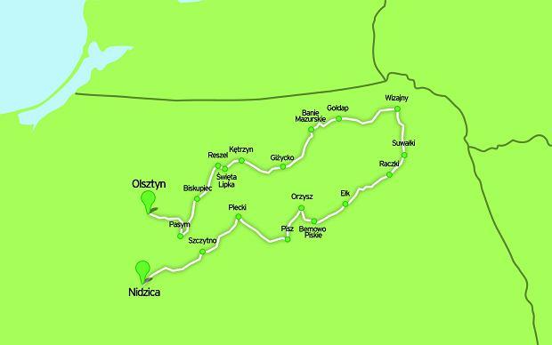 Trasa przez Mazury i Suwalszczyznę, rowery, szlaki rowerowe