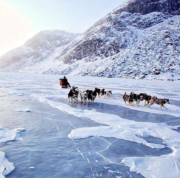 Przejazd po lodzie