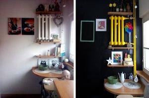 Metamorfoza kuchni, farba tablicowa w kuchni
