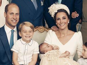 książę William, książę George, księżna Kate, książę Louis, księżniczka Charlotte