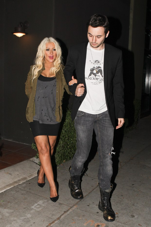 West Hollywood, CA - Christina Aguilera and boyfriend, Matt Rutler dine at Mozza Trattoria in West Hollywood.  Christina looked great in a military jacket and black mini dress, with a ripped grey blouse over the top.      AKM-GSI          July 26, 2012    To License These Photos, Please Contact :    Steve Ginsburg  (310) 505-8447  (323) 4239397  steve@ginsburgspalyinc.com  sales@ginsburgspalyinc.com    or    Keith Stockwell  (310) 261-8649  (323) 325-8055   keith@ginsburgspalyinc.com  ginsburgspalyinc@gmail.com *** Local Caption ***  Christina Aguilera and Matt Rutler