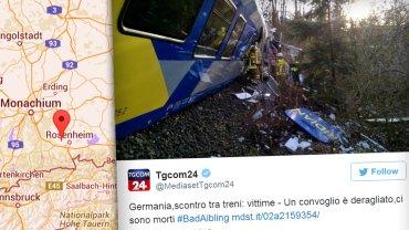 Katastrofa kolejowa w Bawarii. S� ofiary �miertelne. Trwa akcja ratunkowa