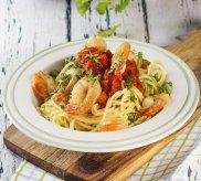 Spaghetti z krewetkami