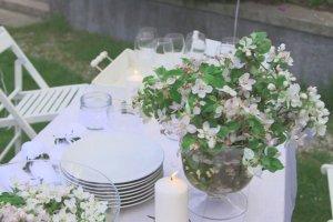 Białe przyjęcie w ogrodzie. Idealne na komunię, ślub i rodzinne uroczystości
