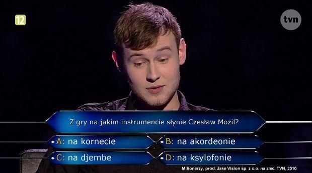 Krzysztof Wójcik w programie 'Milionerzy'