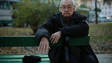 """Andrzej Wajda na planie filmu """"Powidoki"""", 30.10.2015, Łódź"""