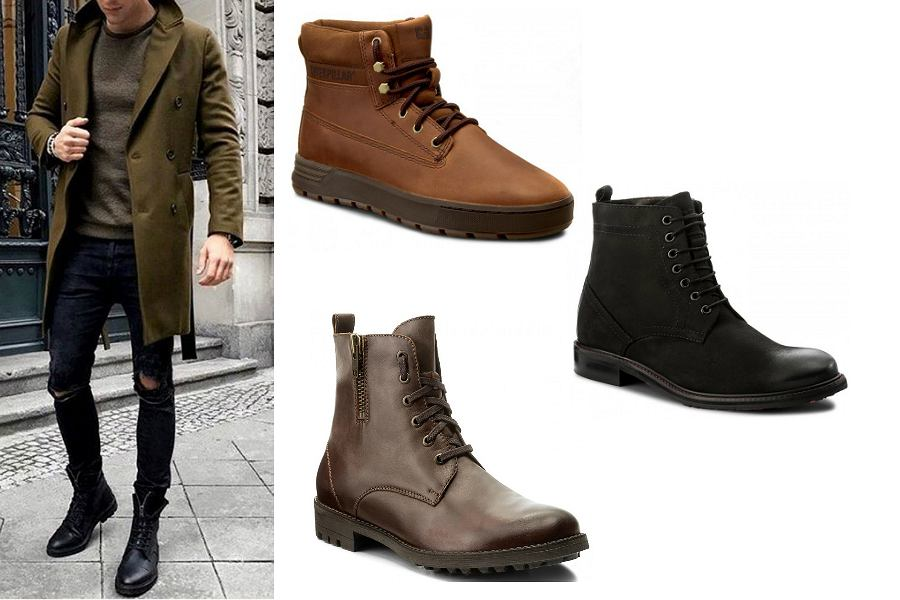 7b762d23524f3 Zimowe buty męskie z wyprzedaży
