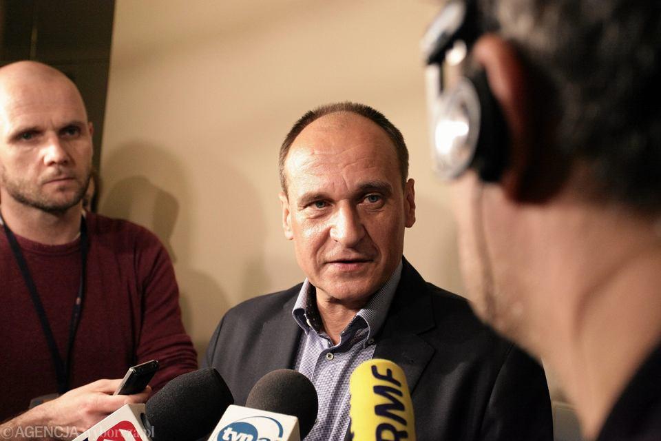 Paweł Kukiz po głosowaniu nad wyborem prof. Jędrzejewskiego na sędziego TK. Posłanka Kukiz'15 zagłosowała