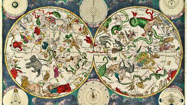 Tak wyobrażał sobie ukryte w gwiazdozbiorach stworzenia i postacie Frederik de Wit, XVII-wieczny niderlandzki kartograf