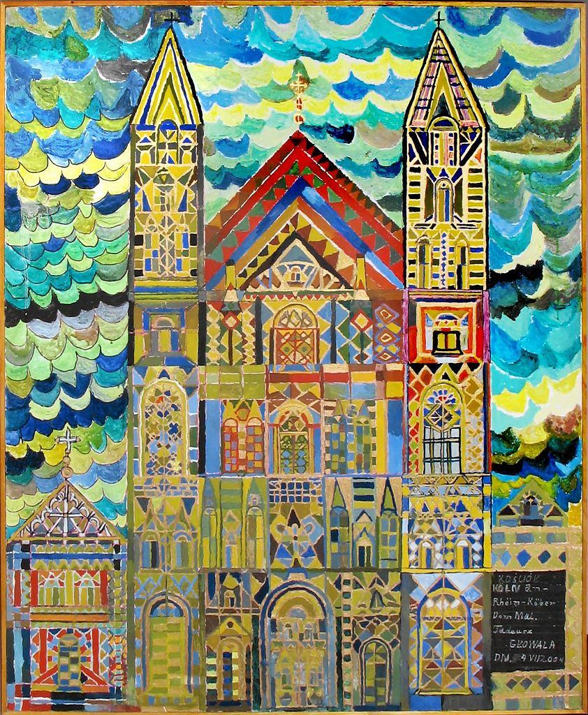 Praca Tadeusza Głowali z wystawy 'Szara strefa sztuki - polscy twórcy art brut' w Państwowym Muzeum Etnograficznym / Fot. Edward Koprowski