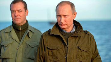 Prezydent Rosji Władimir Putin i premier Rosji Dmitrij Miedwiediew