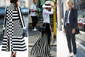 Złudzenie optyczne: czarno-białe wzory w trzech stylizacjach