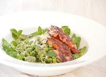 Sałatka z bobem i miętowym pesto - ugotuj