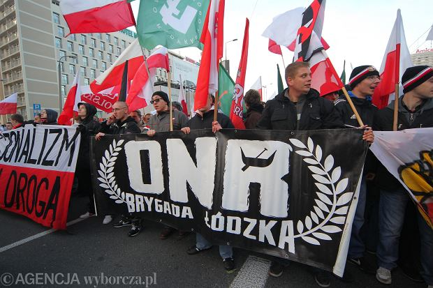 Frakcja ONR w czasie Marszu Niepodległości.