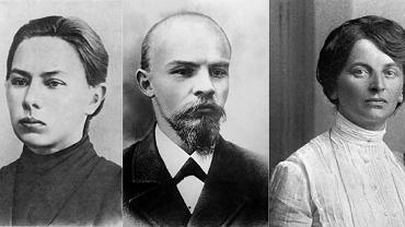 Miłosno-rewolucyjny trójkąt: od lewej Nadieżda Krupska, Włodzimierz Lenin i Inessa Armand