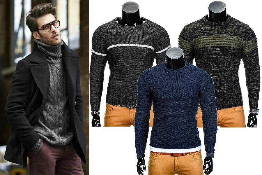 Ciepłe swetry w stonowanych kolorach