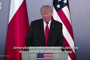 NATO, bezpieczeństwo i wolność mediów. Wspólna konferencja prezydentów Polski i USA