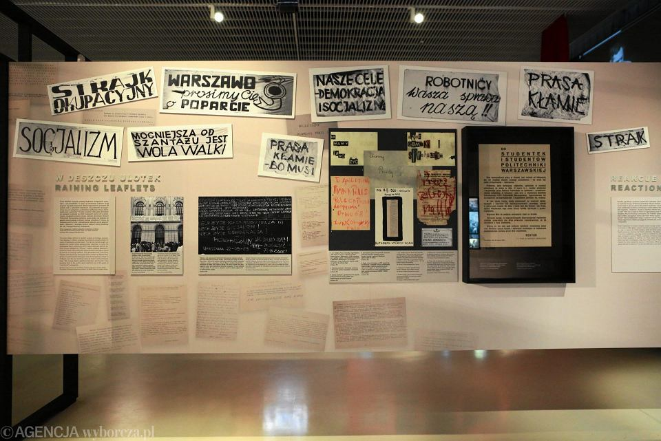Wystawa 'Obcy w domu . Wokół Marca '68' w Muzeum Polin w Warszawie.