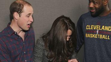 książę William, księżna Kate, James LeBron