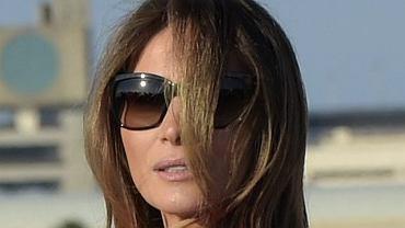 Melania Trump wita Donalda Trumpa na lotnisku