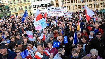 Manifestacja KOD we Wrocławiu, 19.12.2015