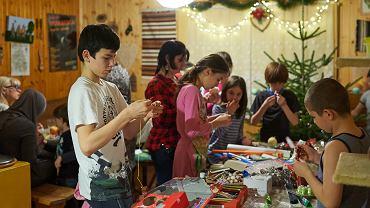 Uchodźcy z Czeczenii w domu pani Małgorzaty w Szczawie