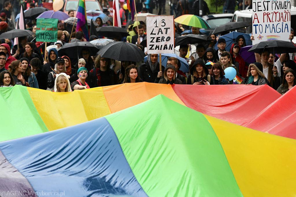 Marsz Równości i kontrmanifestacja w Krakowie