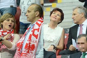 Jolanta Kwa�niewska, Aleksander Kwa�niewski, Kazimierz Marcinkiewicz, Isabel Marcinkiewicz.
