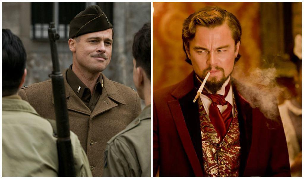 Brad Pitt w 'Bękartach wojny' / Leonardo DiCaprio w 'Django' / Mat. prasowe