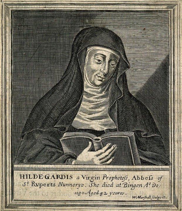 Hildegard von Bingen, W. Marshall.(Wikimedia Commons CC BY 4.0)
