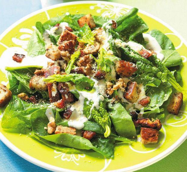 Zielone warzywa, sa�aty, zio�a... Obiad na zielono