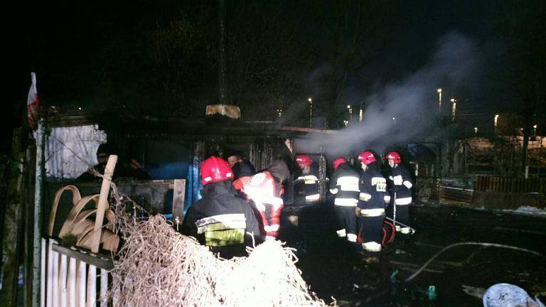 Pożar altanki na Kijowskiej