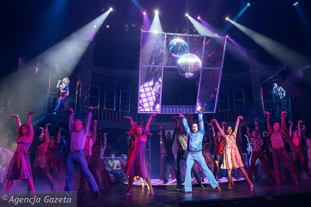 Próba medialna musicalu 'Gorączka sobotniej nocy' w Teatrze Muzycznym w Gdyni