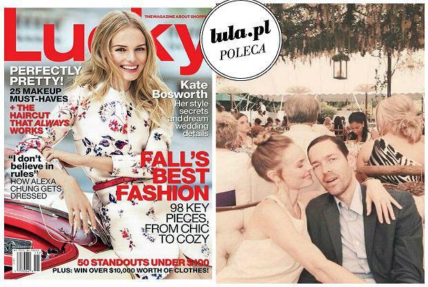 """Kate Bosworth w """"Lucky Magazine"""" zdradza szczeg�y swojego �lubu. Jak wygl�da�a jej suknia i co znalaz�o si� w weselnym menu?"""